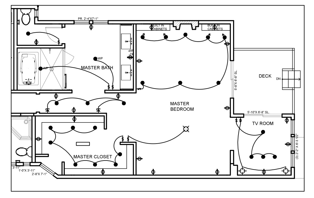 Electrical floor plan drawing residential wire pro Electrical floor plan software